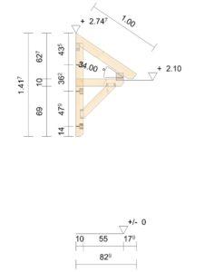 Relativ Ist das Vordach Schwarzwald auch in einer Tiefe von 1,4m lieferbar NW53