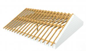 Dachstuhl Satteldach