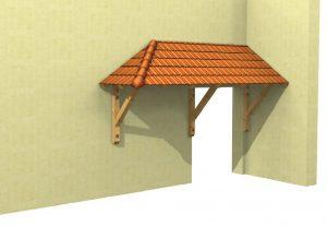 Holzvordach Sonderkonstruktion 3-D Ansicht