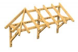 Holzvordach Sonderkonstruktion konstruktive Hölzer