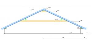 Seitenansicht Dachstuhl