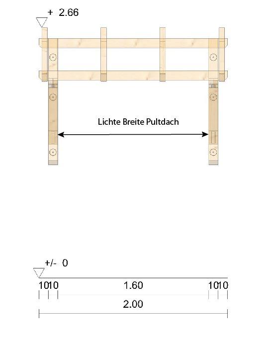 lichte Breite Pultdach Westerwald