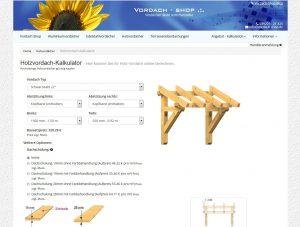 Holzvordach-Kalkulator