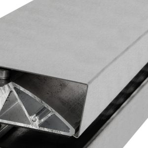 Wandprofil eckige Form aus Edelstahl (V2A) matt gebürstet