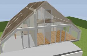 Planung Dachstuhl Satteldach mit Gaube