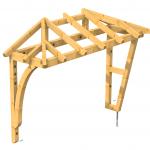 Vordach als Walmdach Sonderkonstruktion Holz