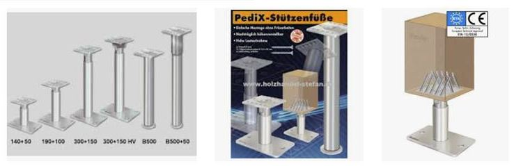 Pedix Stützenfüße für Holzvordächer