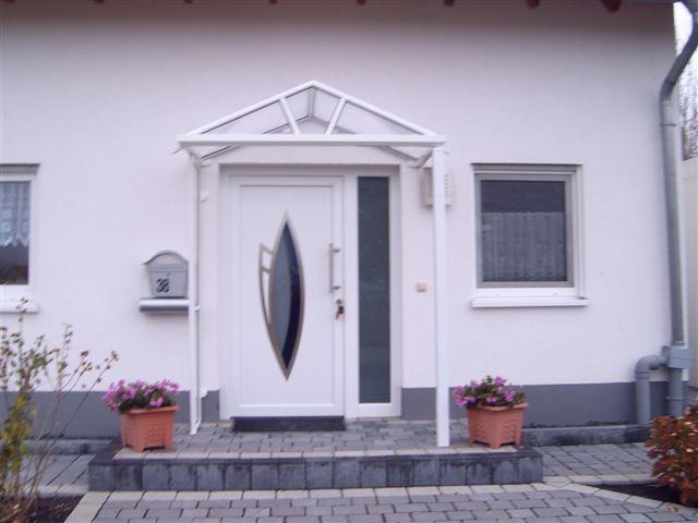 Haustürvordach Mit Seitenteil aluminium vordach rom