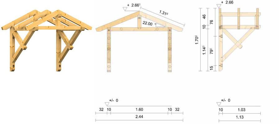 holz vordach bayerischer wald 22. Black Bedroom Furniture Sets. Home Design Ideas