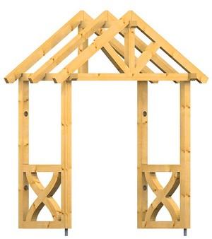 Holz vordach bayerischer wald plus 34 - Vordach mit seitenwand ...