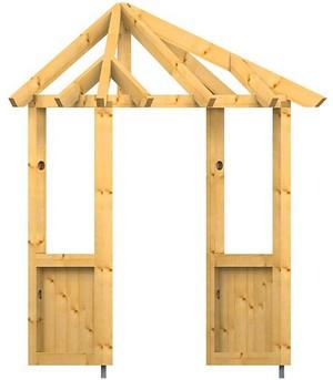 holz vordach odenwald typ1 34. Black Bedroom Furniture Sets. Home Design Ideas