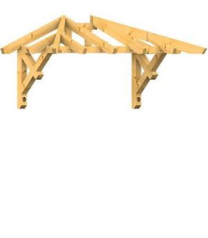 holz vordach odenwald typ2 22. Black Bedroom Furniture Sets. Home Design Ideas
