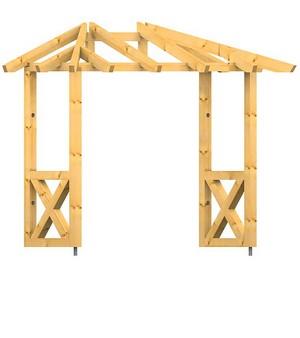 holz vordach odenwald typ3 22. Black Bedroom Furniture Sets. Home Design Ideas