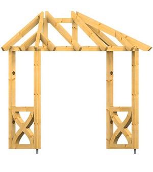 holz vordach odenwald typ3 34. Black Bedroom Furniture Sets. Home Design Ideas