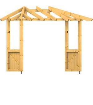 holz vordach odenwald typ4 22. Black Bedroom Furniture Sets. Home Design Ideas