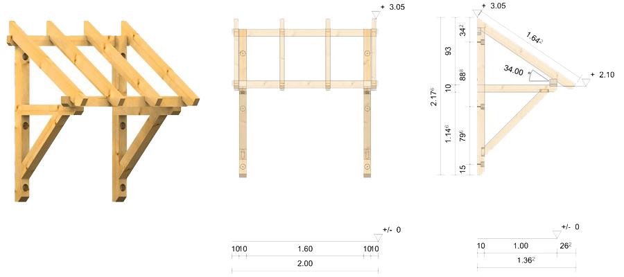 holz vordach pf lzerwald 34. Black Bedroom Furniture Sets. Home Design Ideas