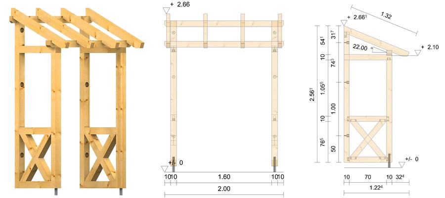holz vordach westerwald 22. Black Bedroom Furniture Sets. Home Design Ideas